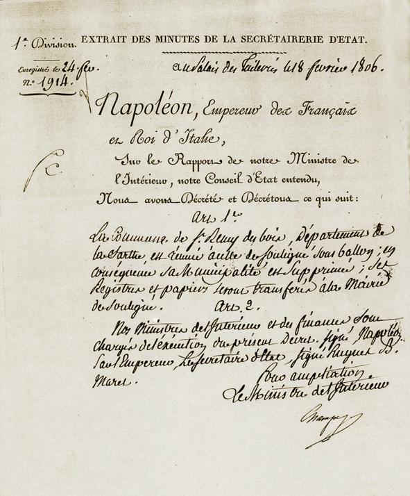 décret de Napoléon