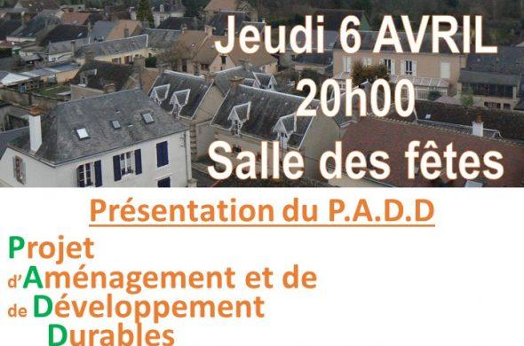 Affiche réunion publique PADD VF