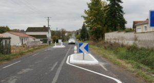 Travaux sur la RD 300 en centre bourg (photo d'illustration).