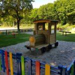 La locomotive de l'aire de jeux
