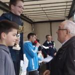 Jean Desgrouas, maire récompense les JSP (jeunes sapeurs-pompiers)